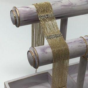 KENNETH JAY LANE 20-Row Crystal Choker Necklace